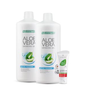 LR Aloe Vera Feel Good Box Freedom 2 x 1l + Zdarma 1 x Aloe Vera Hydratační gelový koncentrát